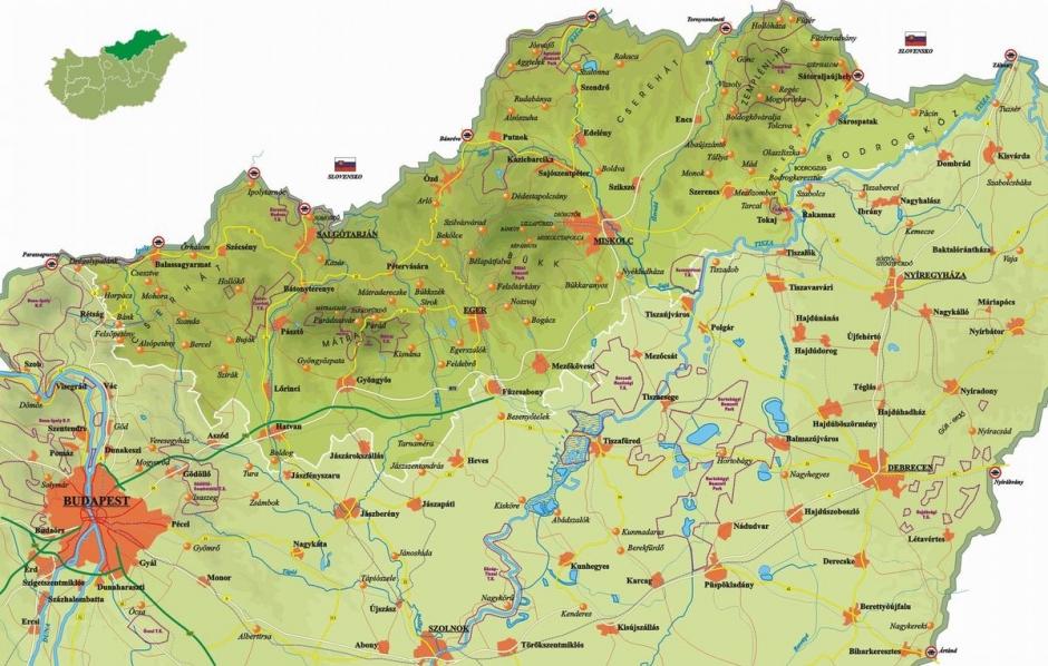 Turisztikai és településtérképek